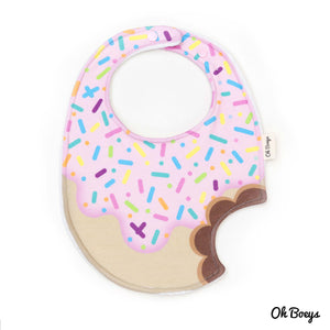 Strawberry Icing Donut Bib