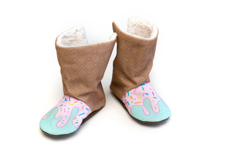 Strawberry Ice Cream Winter Boots