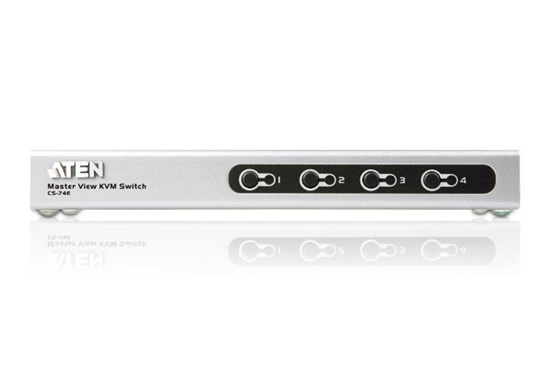 4-Port PS/2 VGA Slim KVM Switch - CS74E