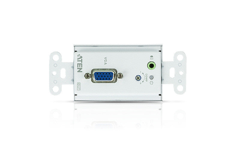 VGA/Audio Cat 5 Extender Wall Plate (US) (1280 x 1024@150m) - VE156
