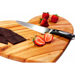 large heart cutting board wooden serving plate thin light restaurant cafe hospitality supplies