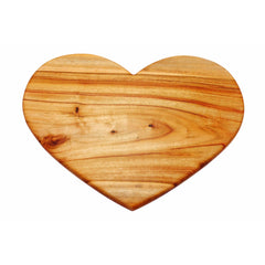 wooden cheese board heart shape valentine gift serving platter desert hospitality supply