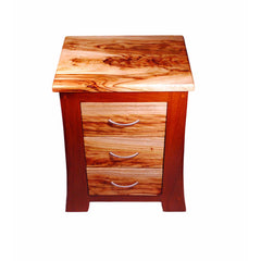 bedside table timber drawers