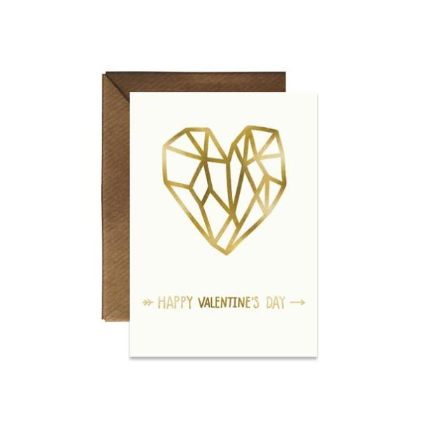 Happy Valentine's Day Card (Gold Foil)