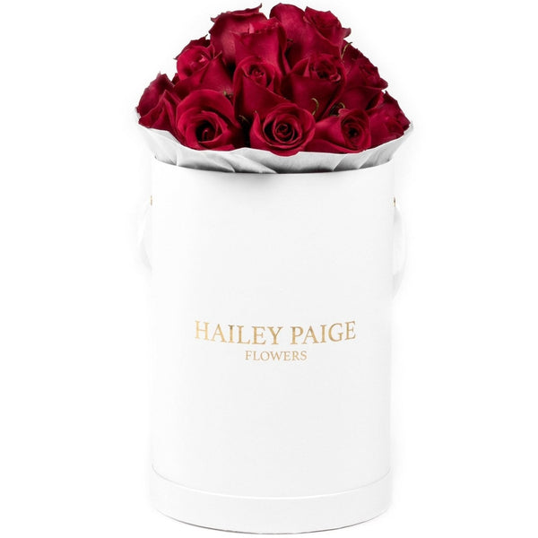 Red Roses White Box