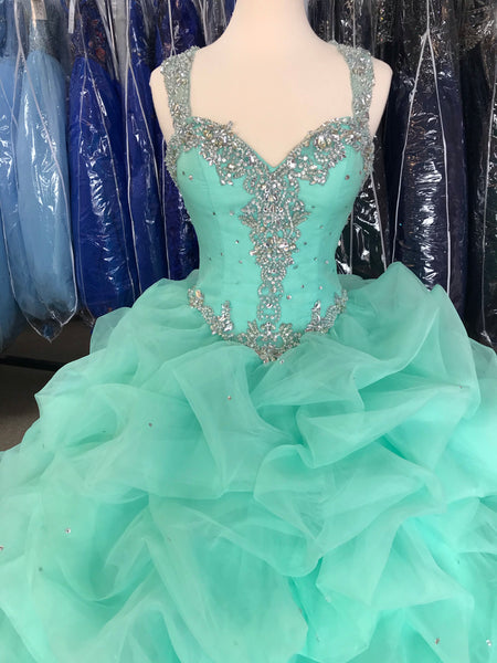 Mint colored Quinceañera/Sweet 16 dress