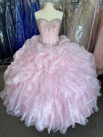 Beautiful pink Quinceañera/ Sweet 16/ Debut 2 piece dress