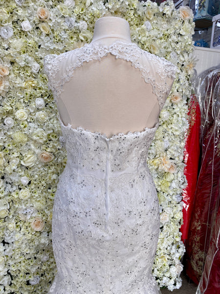 Mermaid cut lace Wedding gown