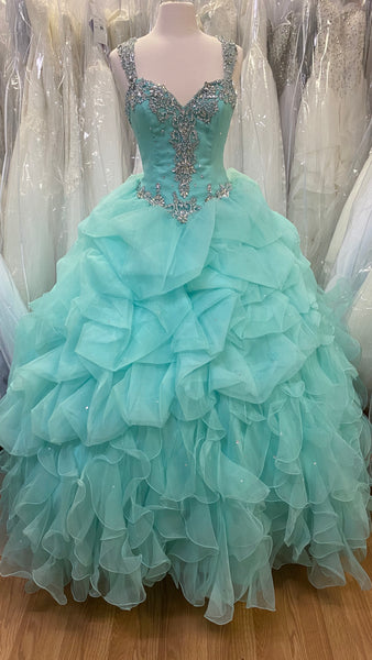 Mint colored Quinceañera dress