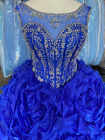 2 piece Royal blue Quinceañera, Sweet 16, Special occasion dress