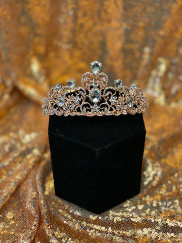 Rose Gold crown with clear stones