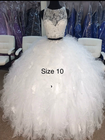 White Quinceañera/ Sweet 16 dress