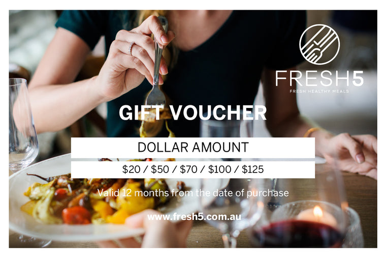 Fresh 5 Gift Voucher Dollar Amount