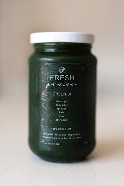Green 01 Cold Press Juice - Fresh Press