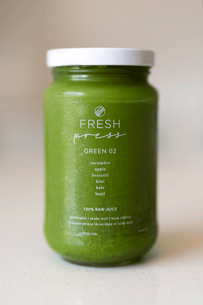 Green 02 Cold Press Juice - Fresh Press