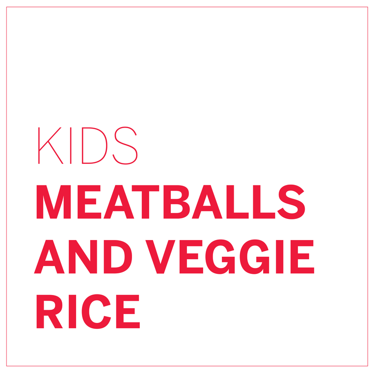 Meatballs and Veggie Rice