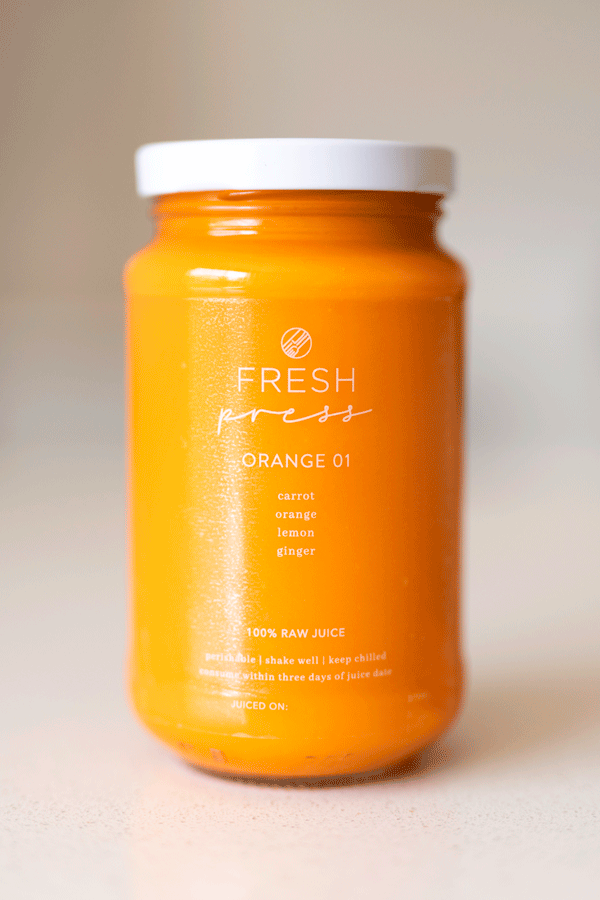 Orange 01 Cold Press Juice - Fresh Press