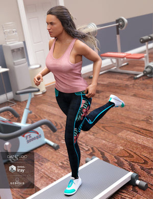 Gym Wear Outfit for Genesis 8 Female(s)