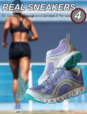 S3D Real Sneakers 4 for Genesis 3 and 8 Female(s)