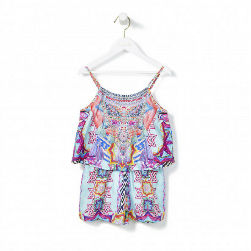Wandering Eye Playsuit with Overlay