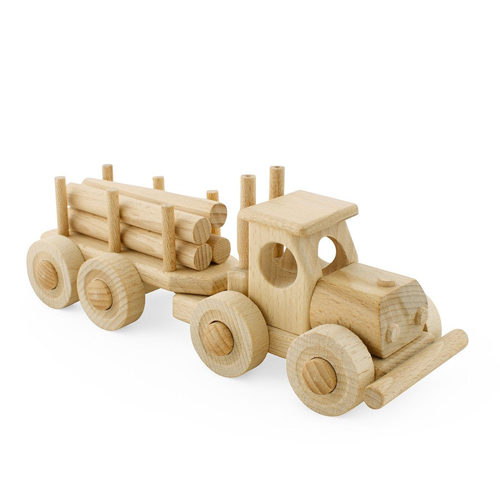 Wooden Truck With Trailer - Toby
