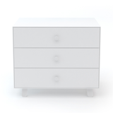 Merlin 3 Drawer Dresser Sparrow Base White