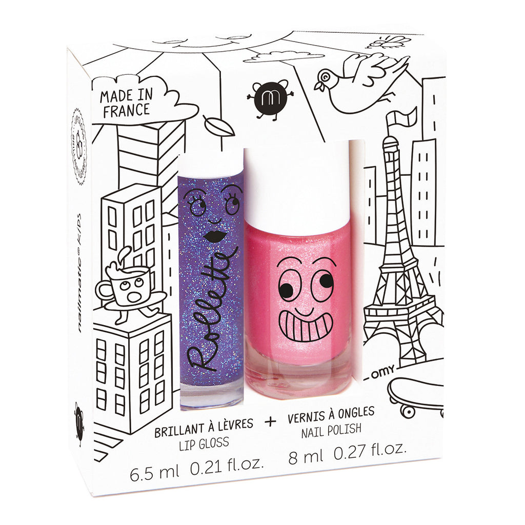 Kids Lip Gloss & Nail Polish Gift Pack - Lovely City