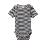 Nature Baby Short Sleeve Bodysuit Navy Stripe - Lila & Huxley