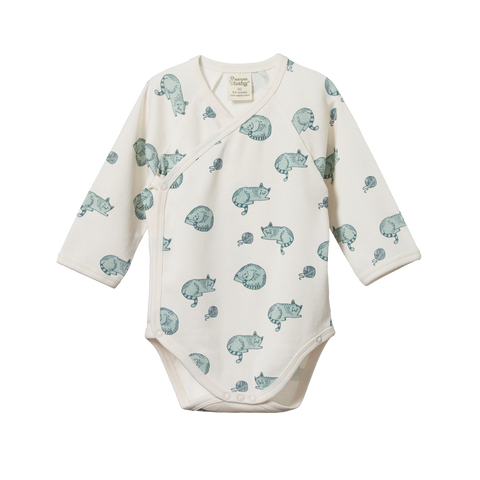 Long Sleeve Bodysuit Dandelion Print