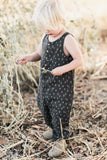 Trees Sleeveless Jumpsuit Charcoal