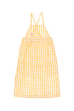 Tiny Cottons Check Dress Off White/Canary - Lila & Huxley