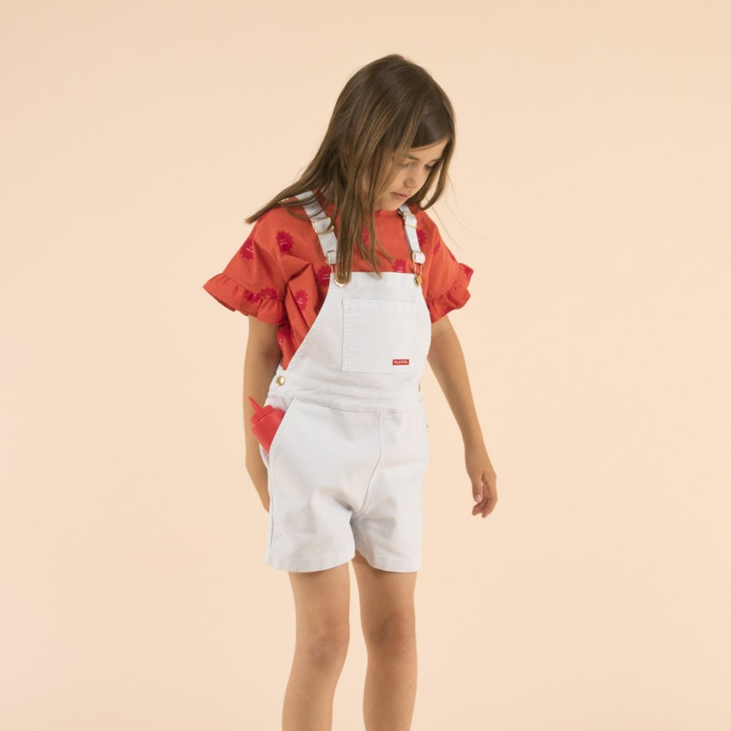 Tiny Cottons Playful Denim Short Overall - Lila & Huxley