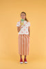Tiny Cottons Retro Stripes Long Skirt Terracotta/Cream - Lila & Huxley