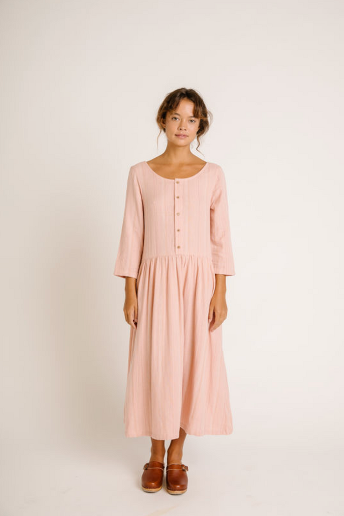 Olli Ella - Zinnia L/Sleeve Dress Rose - Lila & Huxley