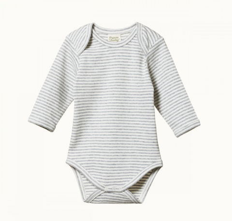 Long Sleeve Bodysuit Rose Bud Stripe