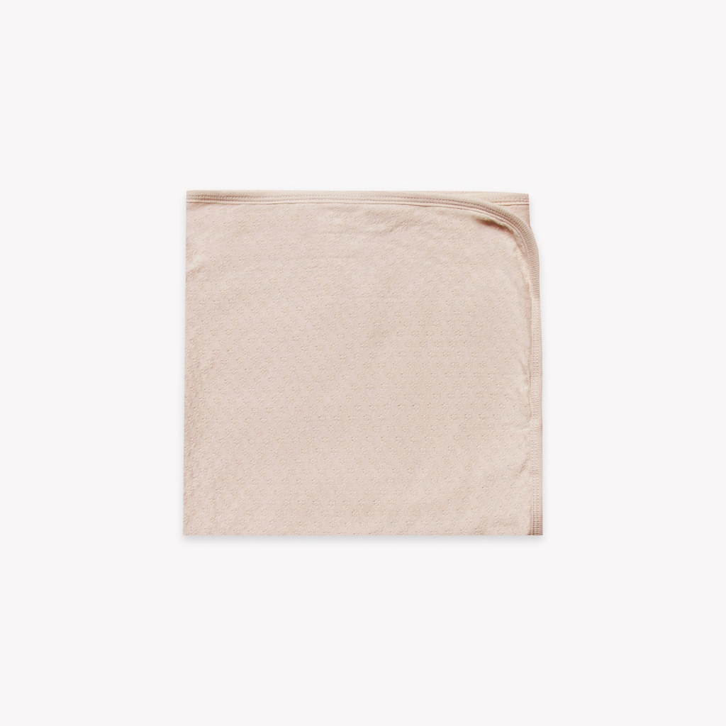 Quincy Mae - Pointelle Baby Blanket Rose - Lila & Huxley