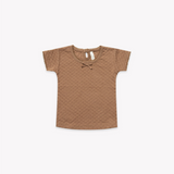 Quincy Mae - Pointelle Short sleeve Tee Copper - Lila & Huxley
