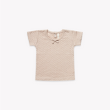 Quincy Mae - Pointelle Short sleeve Tee Rose - Lila & Huxley