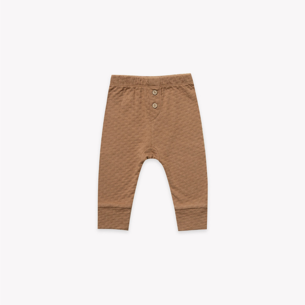 Quincy Mae Pointelle Pyjama Pant Copper - Lila & Huxley