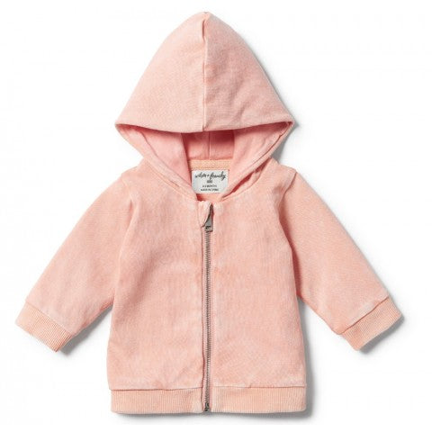 STRAWBERRY WASHED BACK HOODED JACKET WITH ZIP