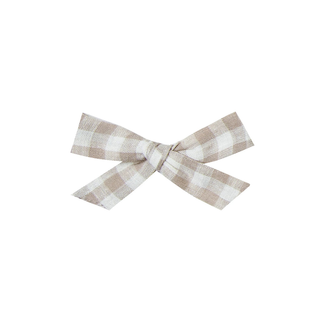 Bow with clip Gingham