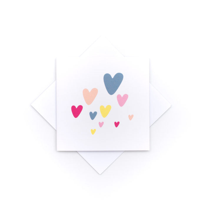 Small greeting card - love hearts