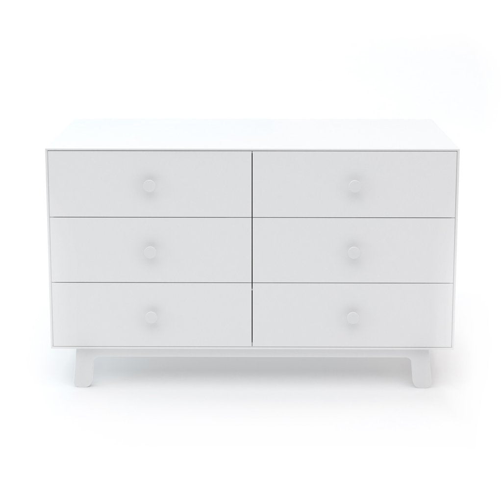 Merlin 6 Drawer Dresser Sparrow Base White