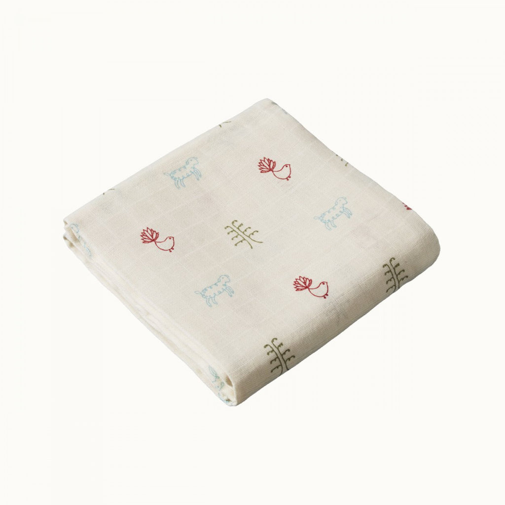 Muslin Wrap Nature Baby Print
