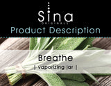 Sina Essential Oils Breathe Vaporizing Jar for Relief of Allergies and Sinus Congestion