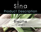 Sina Essential Oils Breathe Roll-on for Allergies and Sinus Congestion