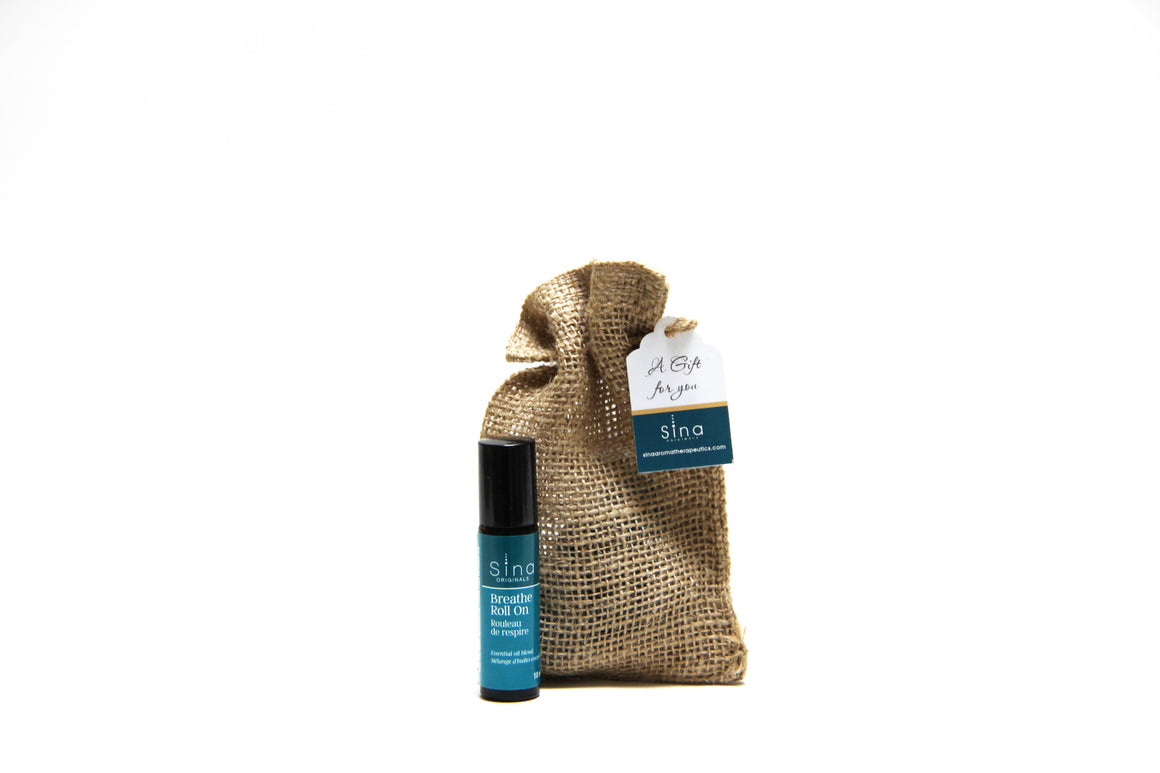 Essential Oils Aromatherapy Roll-on Single Gift Bag for Relief of Allergies, Hay Fever and Sinus Congestion