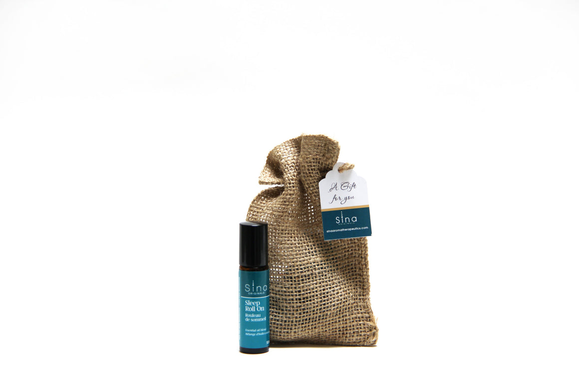 Essential Oils Aromatherapy Roll-on Single Gift Bag for Relief of Insomnia and Sleeplessness