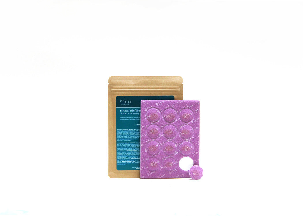 Essential Oils Aromatherapy Patch (1 Sheet/12 patches) for Relief of Stress, Anxiety and Tension
