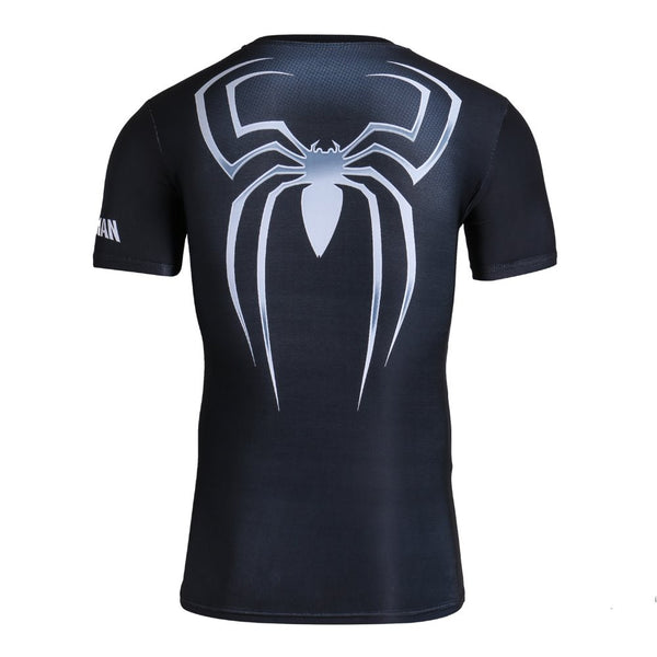 Tee shirt fitness noir Spider-Man